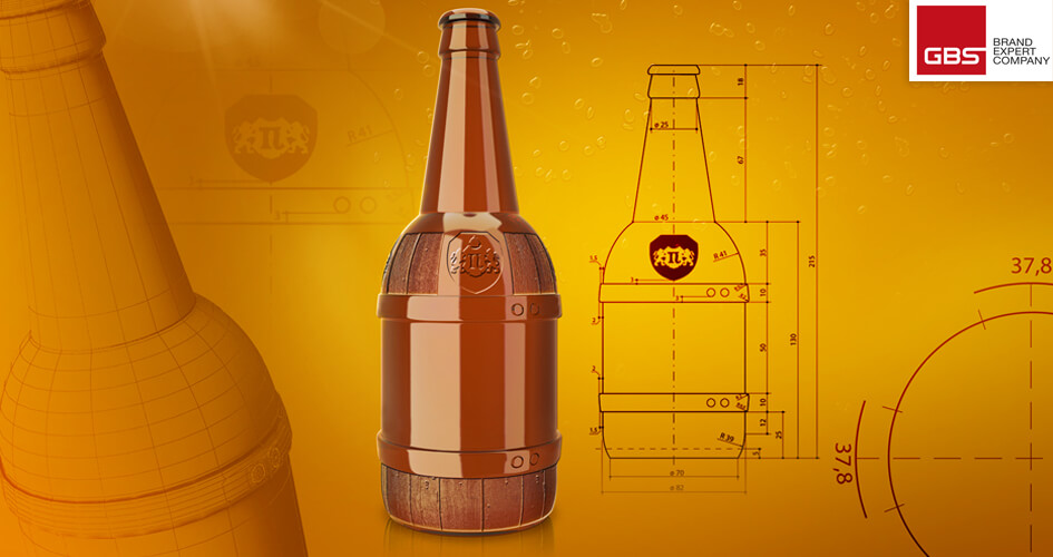 Розробка концепції дизайну пляшки для пива ТМ Полтавпиво