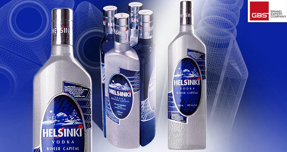 Розробка концепції дизайну пляшки та етикетки для горілки ТМ Helsinki від GBS Brand Expert Company
